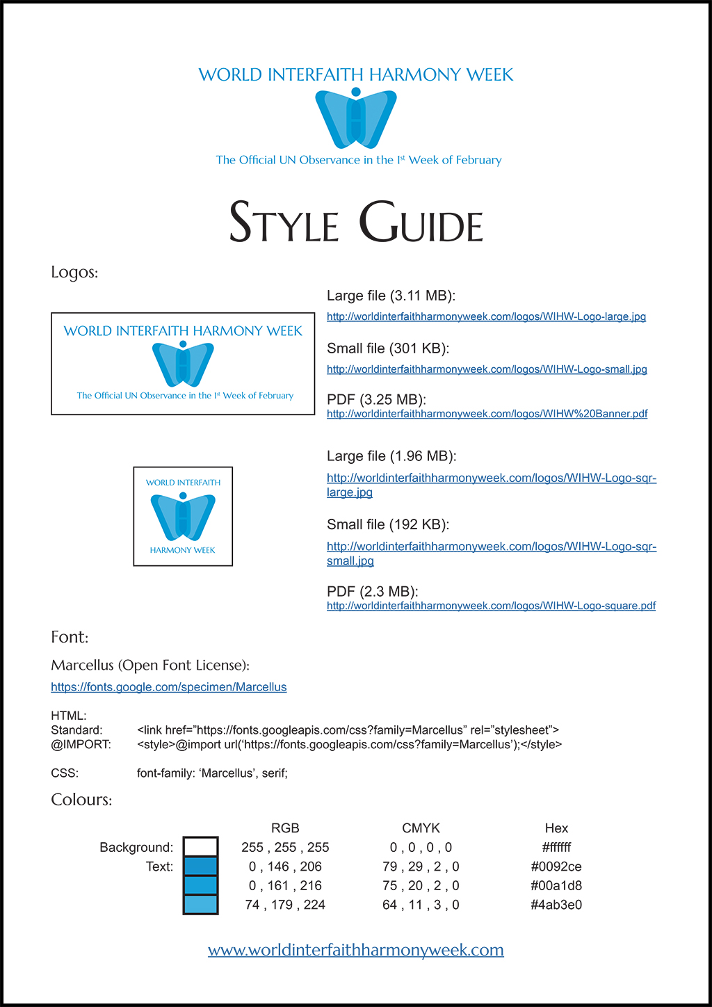 WIHW Style Guide