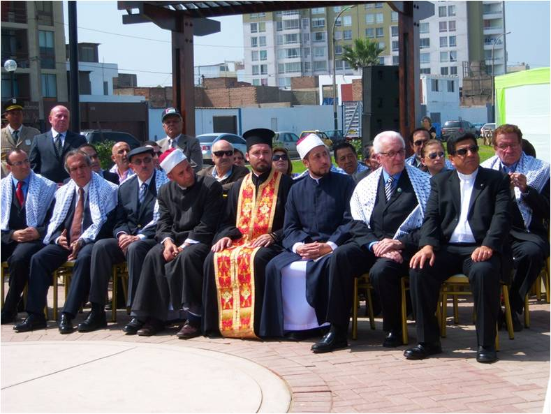 Dr Jones attended the inauguration of a Peace Park in Lima.jpg