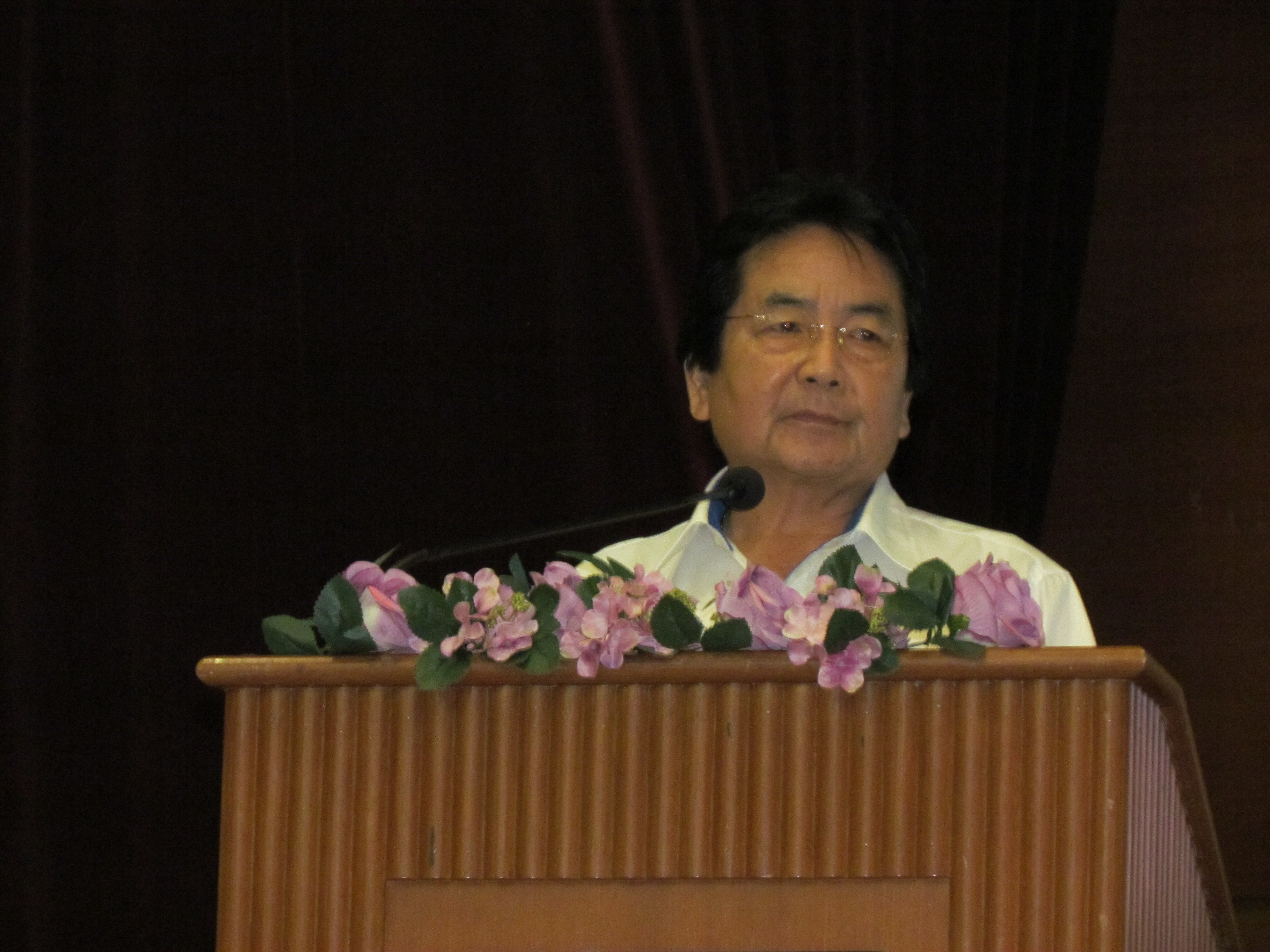 Minister Tan Sri Joseph Kurup closing the WIHW 2015 in Putra Jaya.JPG