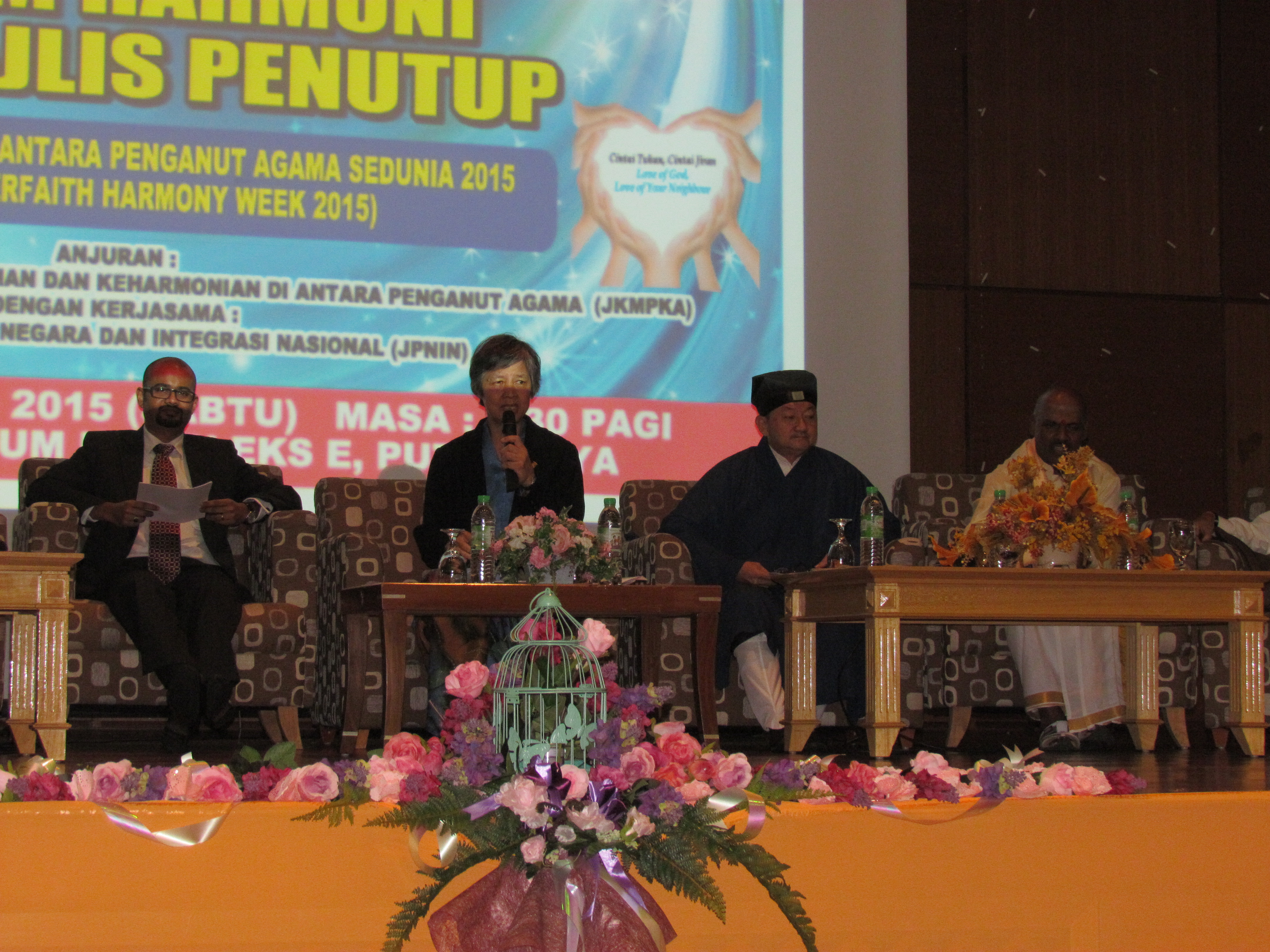 Speakers of various race and religion at Youth Interfaith Forum of WIHW 2015 in Putra Jaya.JPG