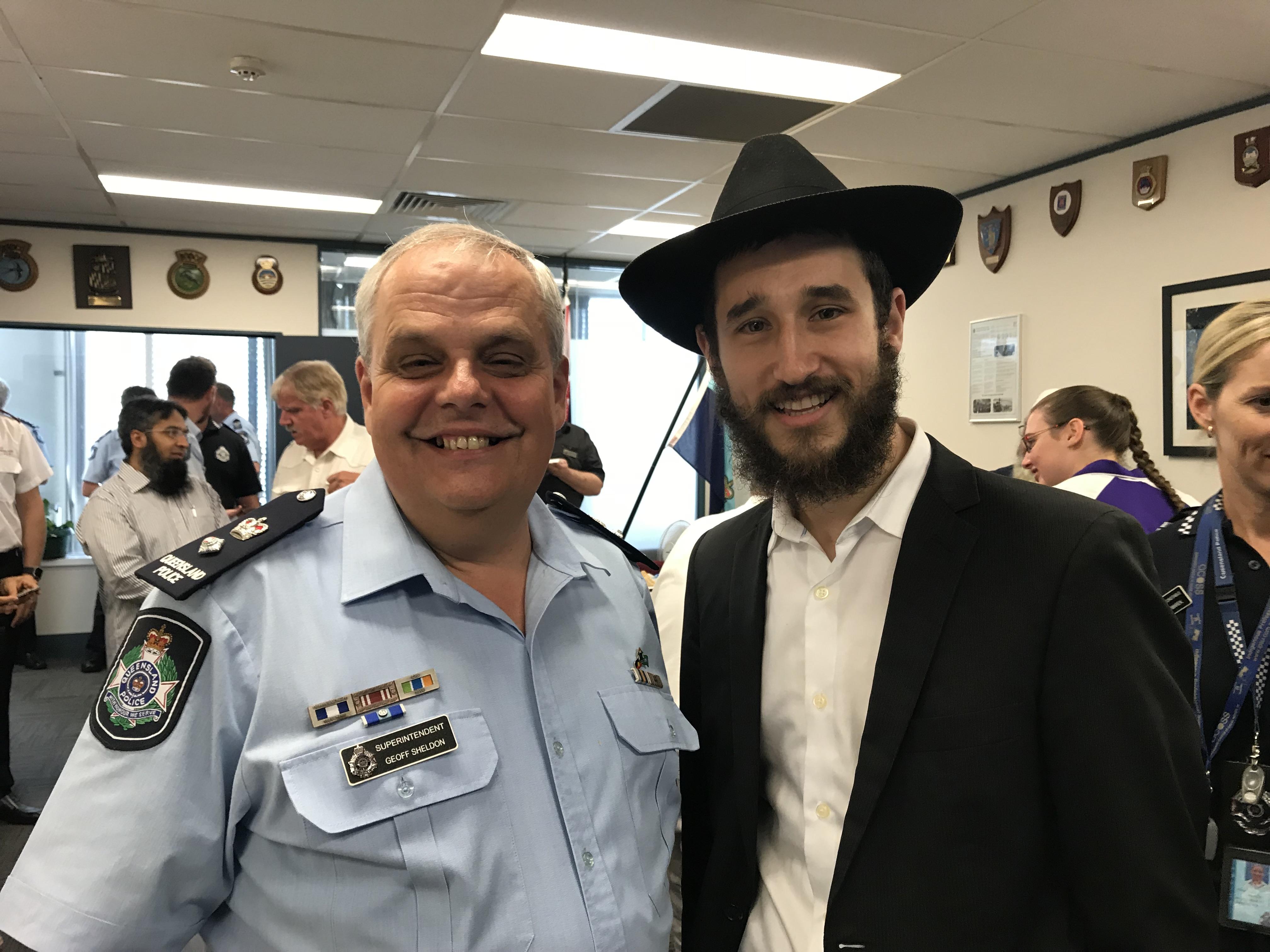 Superintendant Geoff Sheldon and Rabbi Ari Rubin.jpg
